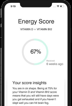 Vitamin D + Vitamin B12 Energy tracking